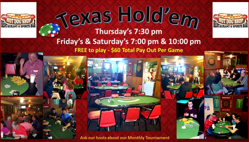Join us for Texas Hold-em Poker, it's free to play!